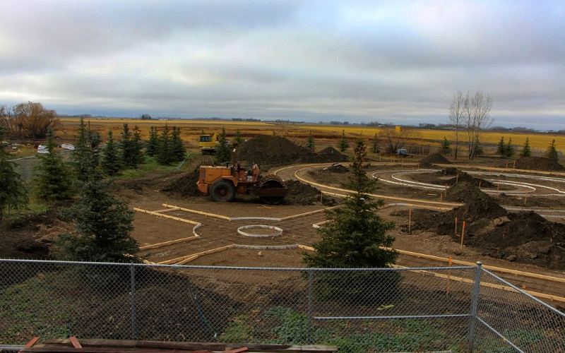Rehoboth Therapeutic Park pathway construction 2017